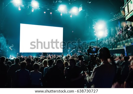 Rock concert, white screen isolated.  (clipping path) #638730727