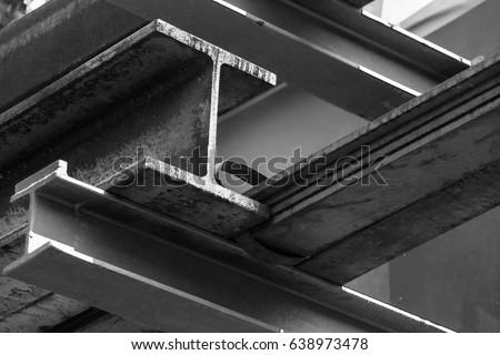Steel Beams Royalty-Free Stock Photo #638973478