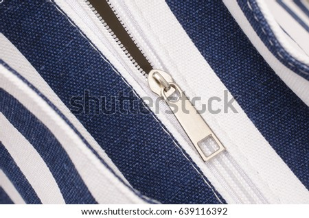 handbag zipper close up #639116392