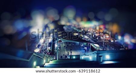 night traffic in the city  #639118612
