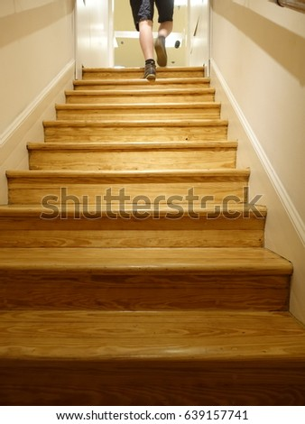 Wooden stair case #639157741