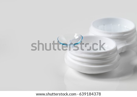 Contact lens, contact lens, on white background Royalty-Free Stock Photo #639184378