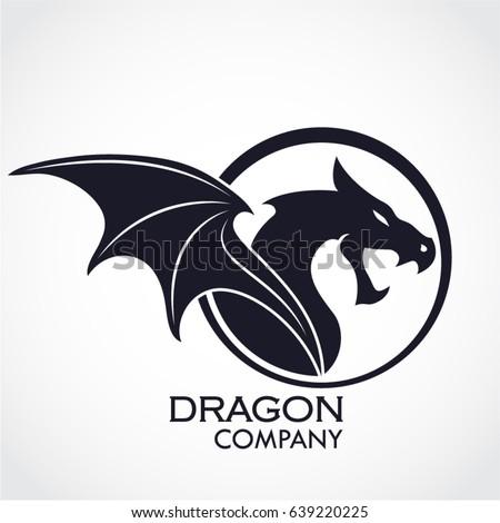 winged dragon circle logo