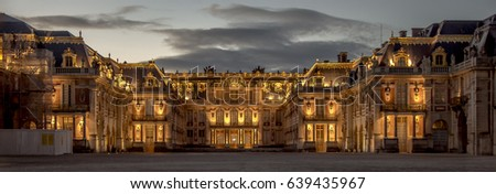 Versailles Royal Palace Castle of Versailles one of the most famous and luxury castle in the word. Royalty-Free Stock Photo #639435967