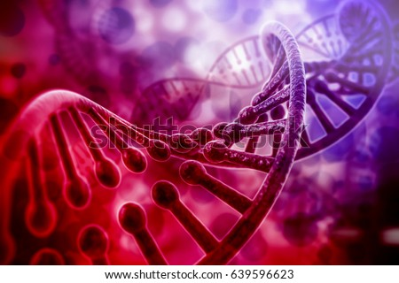colorful 3d rendering of dna structure, abstract  background #639596623