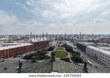 View from the colonnade of St. Isaac's Cathedral. St.Petersburg, Russia #639726064
