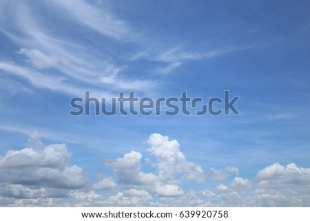 Blue sky and White cloud. #639920758