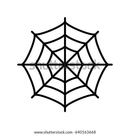 Spider web vector eps icon #640163668