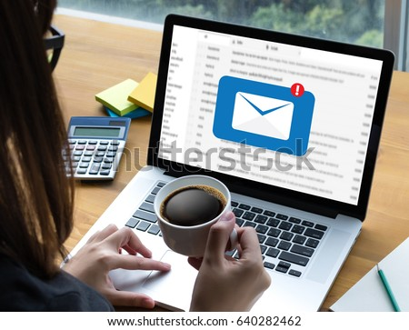 Mail Communication Connection message to mailing contacts phone Global Letters Concept #640282462
