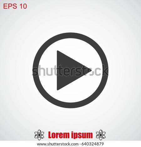Play button web icon #640324879
