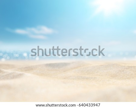 sand and sea and sky in summer day #640433947