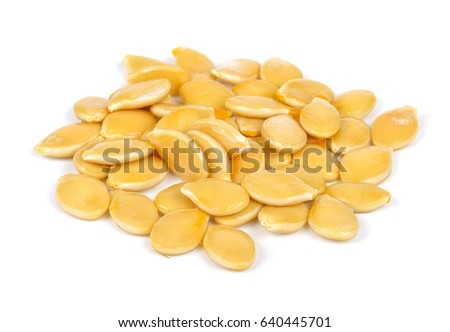 Pumpkin seed isolated on the white background. #640445701