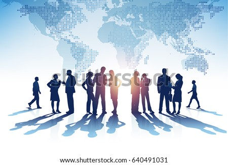 Business Group. Vector illustration
