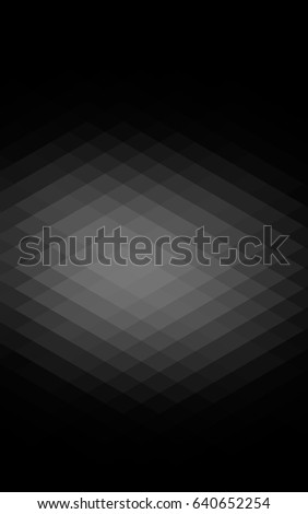 Dark Silver, Gray background of rectangles and squares. Style quilt and blanket. Geometrical rectangular pattern. Repeating pattern with rectangle shapes. #640652254