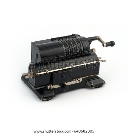 Manual calculating machine (manufactured in 1929) #640682305