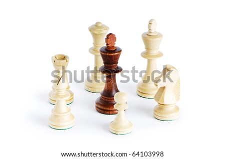 Chess figure isolated on the white background #64103998