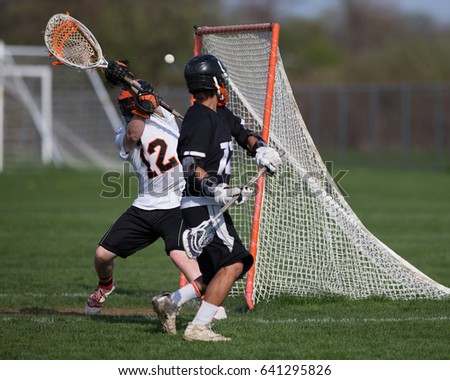 Lacrosse Action Goal Scored