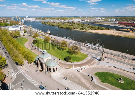 Szczecin  / Panorama of the historical part of the city Royalty-Free Stock Photo #641352940