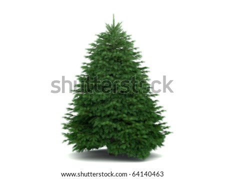 very high detailed christmas tree #64140463