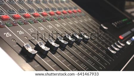 Professional audio mixing console radio / TV broadcasting #641467933