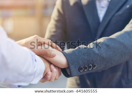 Lawyer and client from trust Law Firm Justice Attorney Legal Concept. Experience Attorneys Notary Public advice at Court of Law in Notary Public Office. Client trust team promise winning legal case #641605555