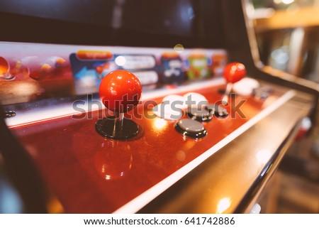Arcade machine. Game Arcade machine. Royalty-Free Stock Photo #641742886