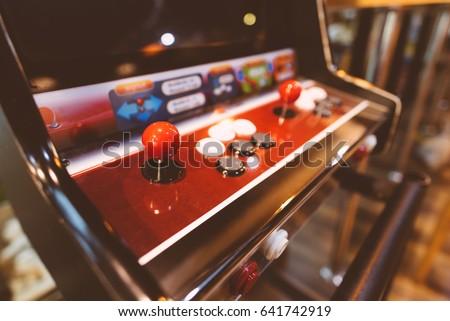 Arcade machine. Game Arcade machine. Royalty-Free Stock Photo #641742919
