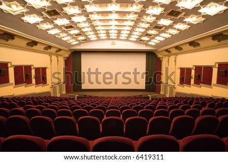 empty cinema auditorium #6419311