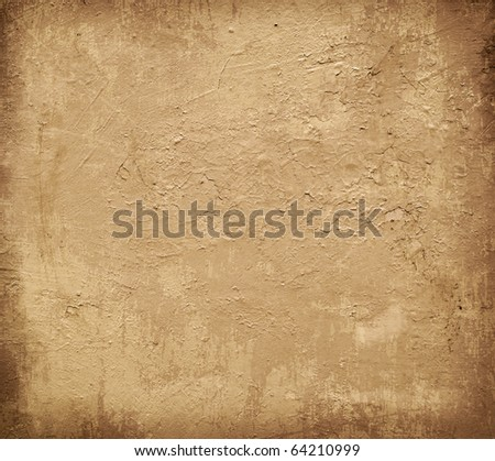 Brown grungy wall - textures for your design #64210999