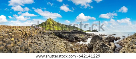 Giant's Causeway in a beautiful summer day, Northern Ireland Royalty-Free Stock Photo #642141229