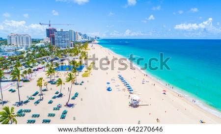 Fort Lauderdale Beach. Florida. USA.  #642270646