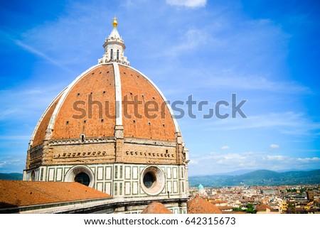 The Basilica di Santa Maria del Fiore. Florence. Italy #642315673