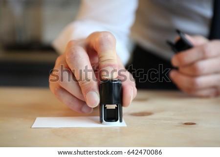 Hand stamp #642470086