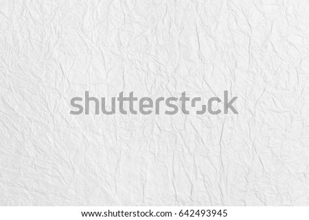 New sheet of white crumpled paper, texture for background #642493945