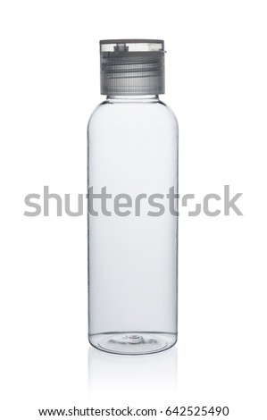 Plastic bottle (with clipping path) isolated on white background #642525490