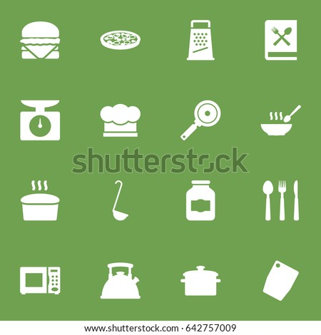 Set Of 16 Cooking Icons Set.Collection Of Broth, Sandwich, Non-Stick Elements. #642757009