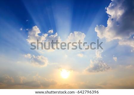 Beautiful atmosphere of the cloud sky. #642796396
