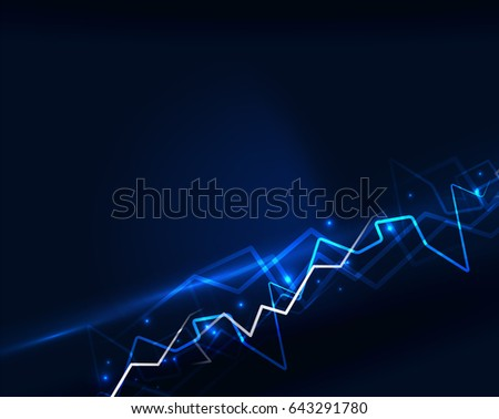 Neon blue lightning background template #643291780
