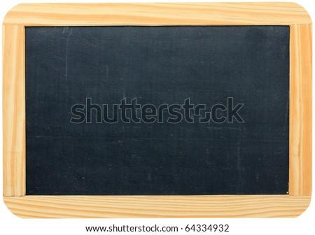 Blank chalkboard in wooden frame #64334932