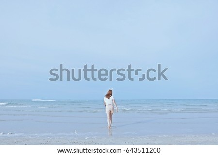 Women with beach or relax. #643511200