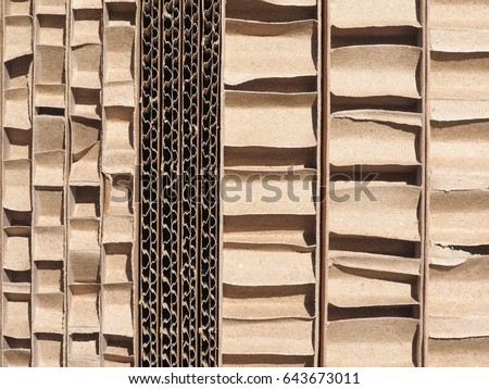 brown corrugated cardboard texture useful as a background #643673011