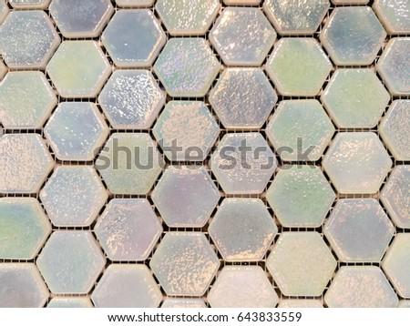 Hexagonal brick walls. #643833559