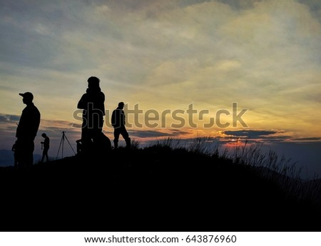 four man on hilltop #643876960