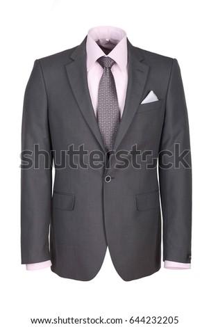 men's jacket on white background #644232205