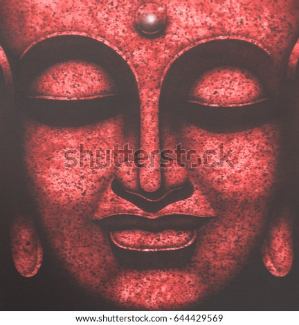 Painting   Face of buddha  illustration painting abstract background #644429569