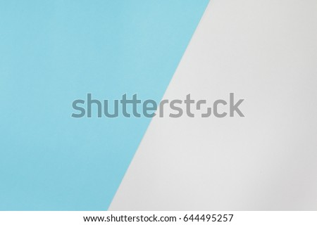 Two color paper with blue and white Overlap on the floor And split half of the image. background #644495257