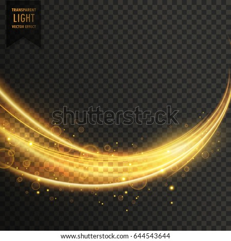 abstract golden transparent light wavy streak with sparkle #644543644