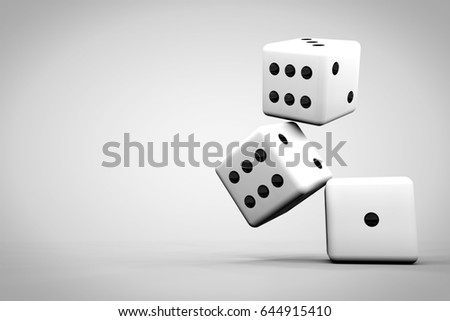 3D render of dice for gaming concept #644915410