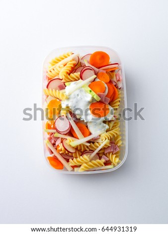Noodle salad in lunch box #644931319