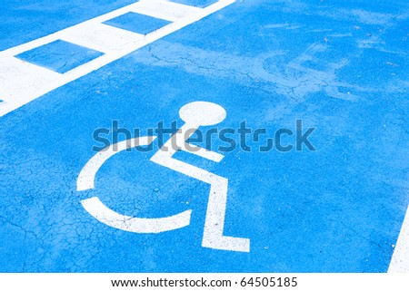 place reserved for disabled people #64505185